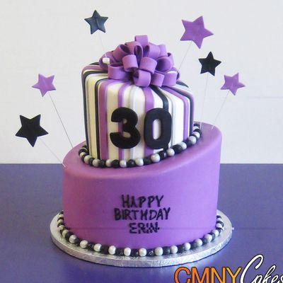 Fine Erins Purple 30Th Birthday Cake Com Imagens Bolos De Funny Birthday Cards Online Alyptdamsfinfo