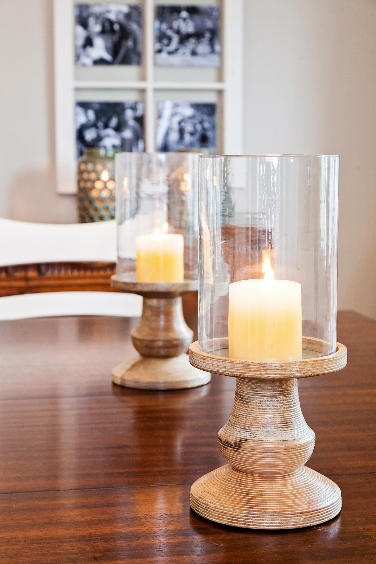 As Seen On Rehab Addict Host Nicole Curtis Placed Candles In The Center Of Dining Room CenterpieceDining