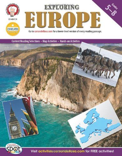 Exploring Europe Grades 5 8 Continents of the World https