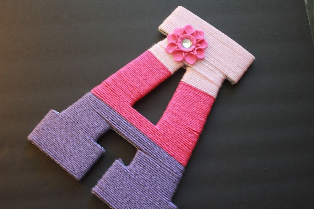 Pretty Monogram Wall Decor for Kids Room! is part of Cute Kids Crafts Room Decor - I made this monogram wall decor for a dear friend who is blessed with a cute baby girl! She loved it and I am very happy with how it turned out  I originally sa…