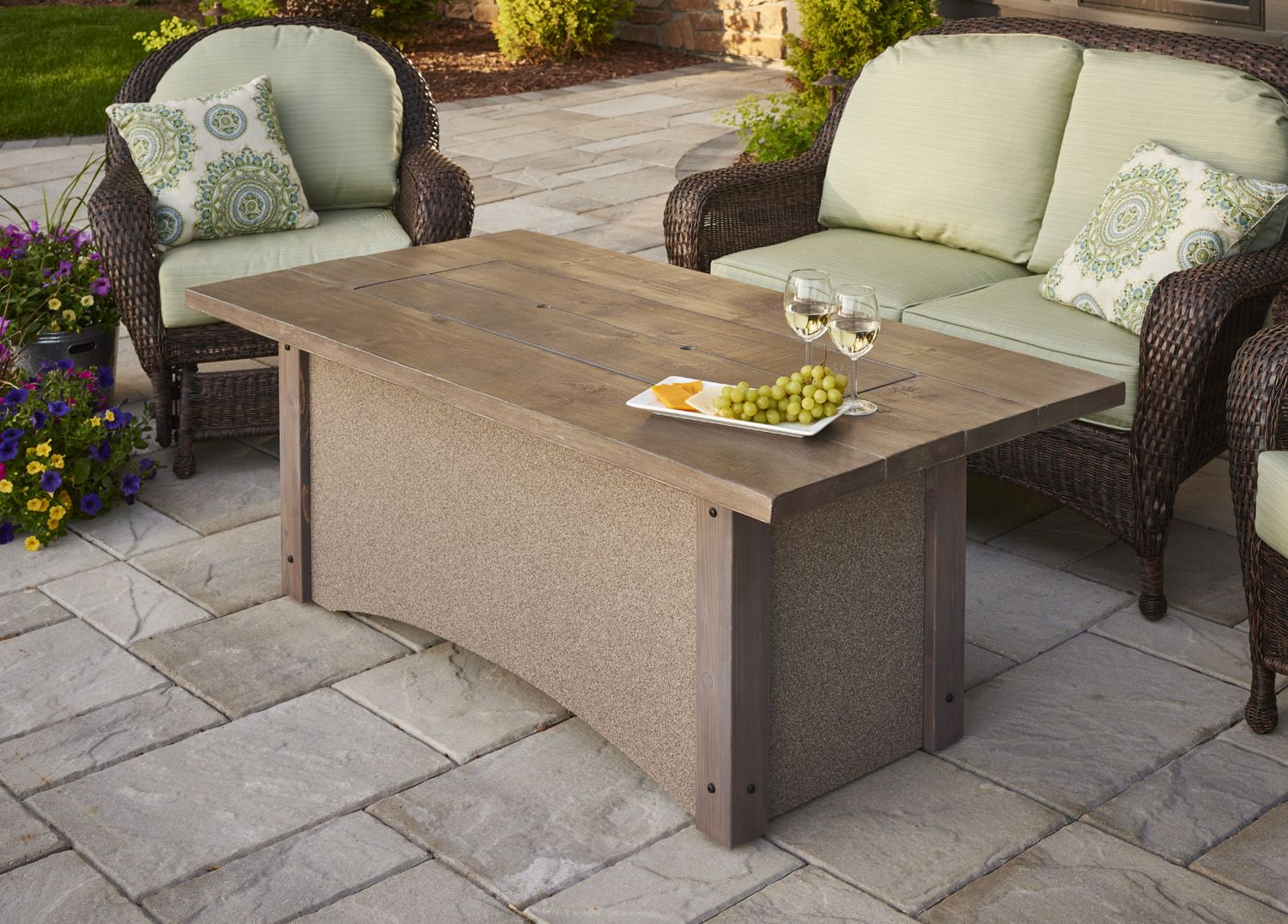 Outdoor Gas Fire Pit Tables And Gas Fireplaces Add A Warm, Cozy Glow To Any