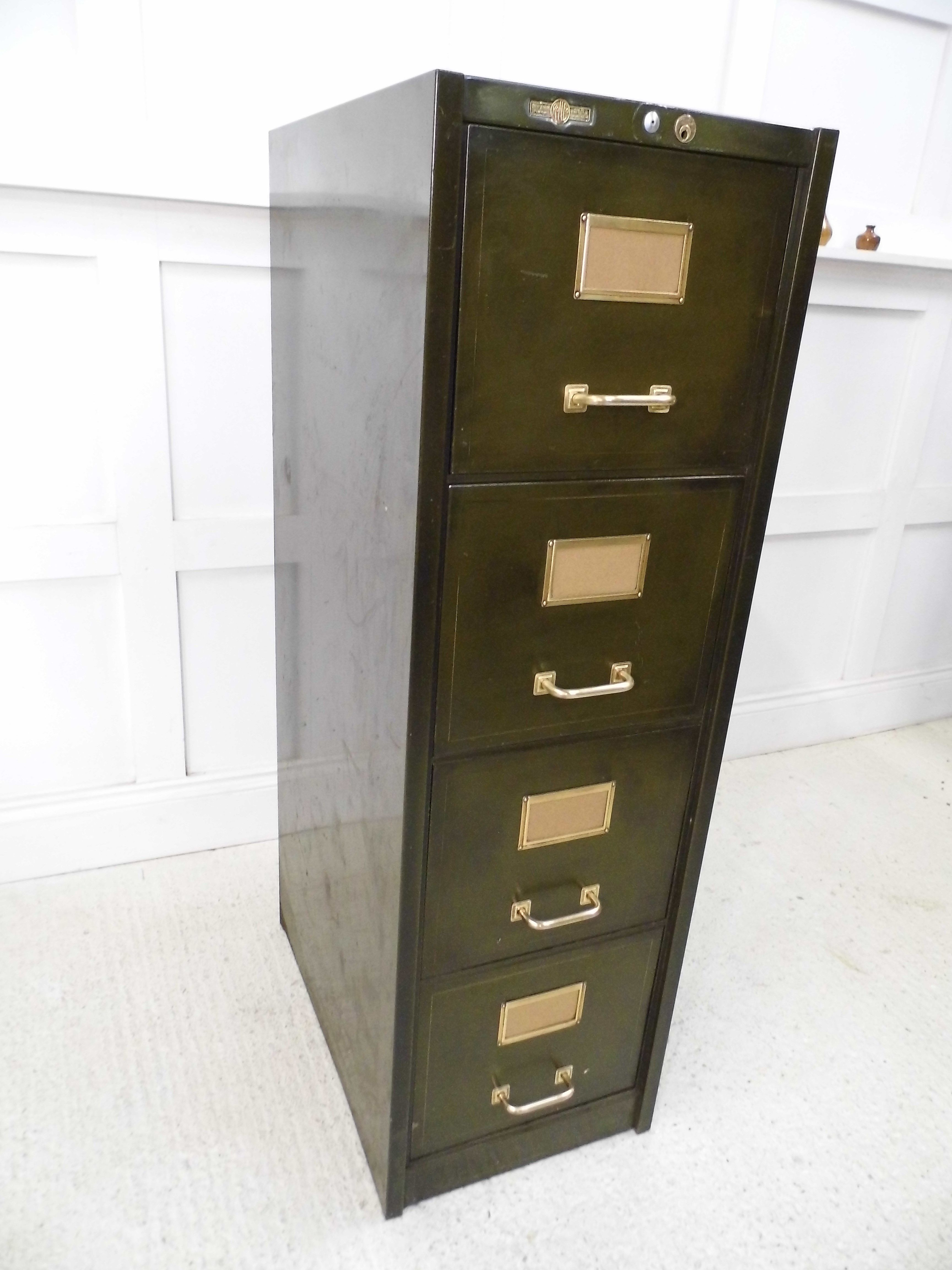 Vintage Industrial Chic Retro Roneo Heavy Duty Filing Cabinet Storage Chest 1930s Ex Military Poli Filing Cabinet Vintage Filing Cabinet Filing Cabinet Storage Metal filing cabinets for sale