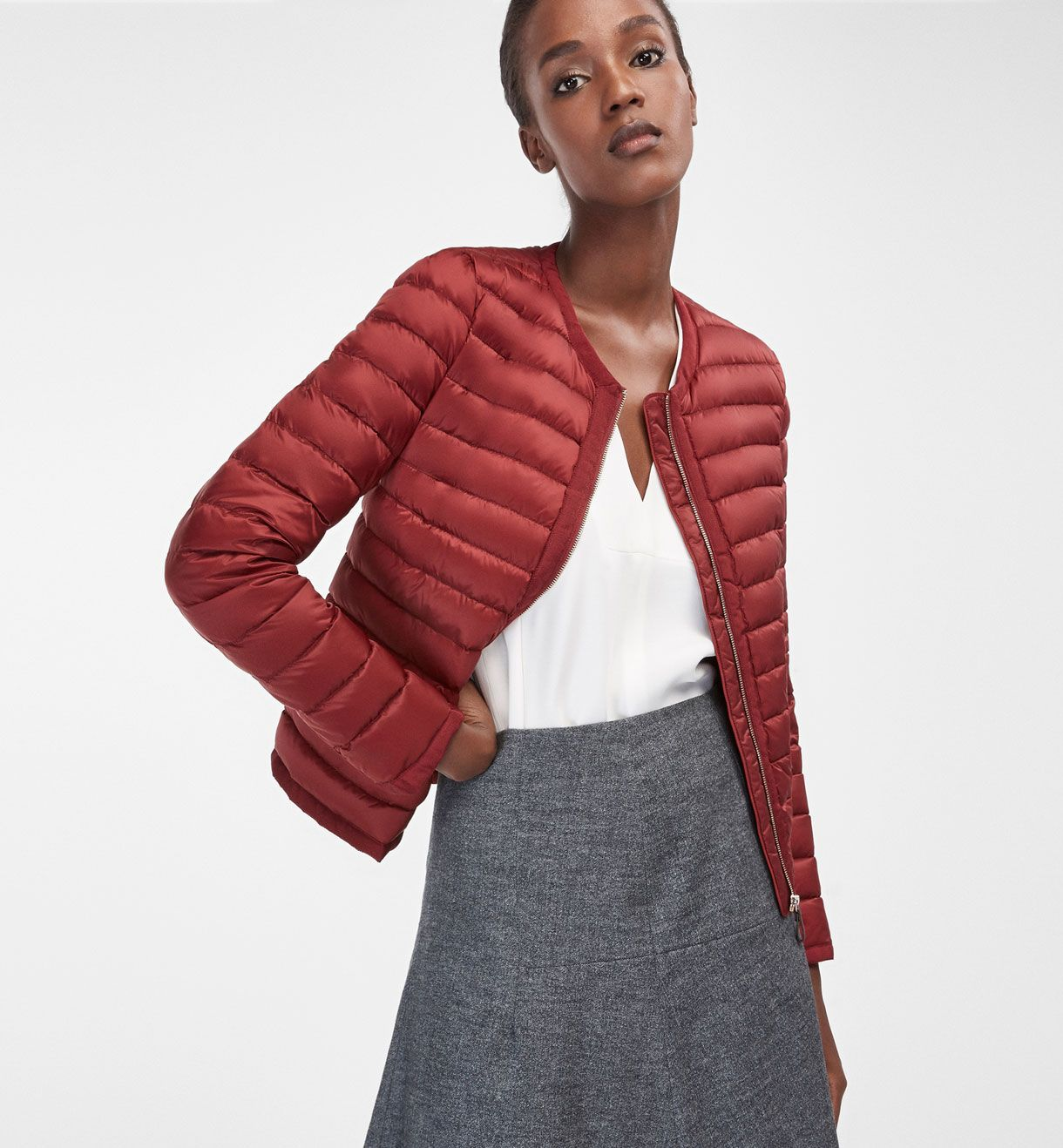 QUILTED SHORT JACKET - View all - Outerwear - WOMEN - Georgia ...