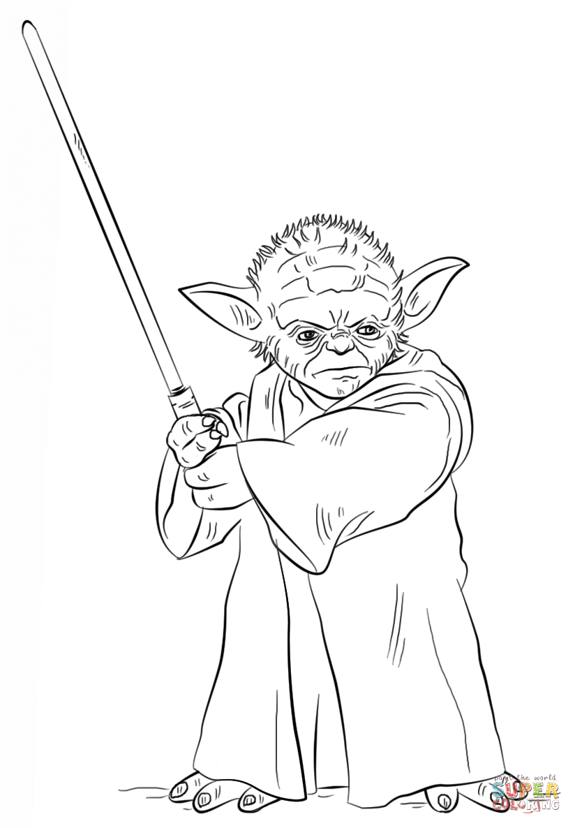 Star Wars Yoda Coloring Pages Yoda Drawing Star Wars Colors Star Coloring Pages