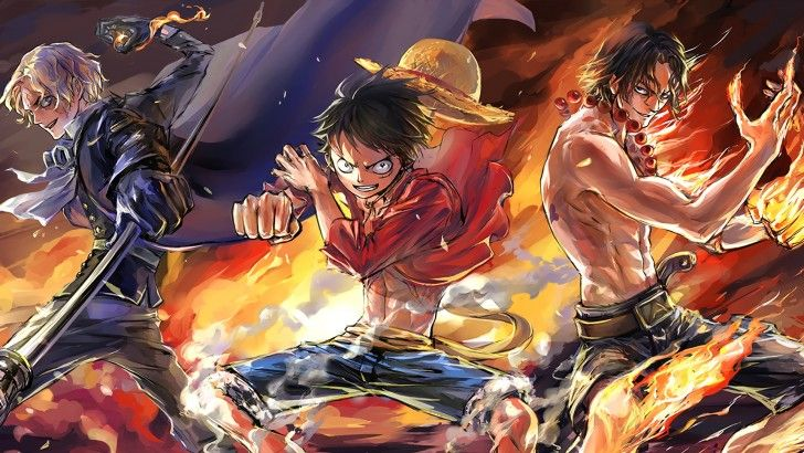 Download Sabo Luffy and Ace Wallpaper HD by Zzyzzyy