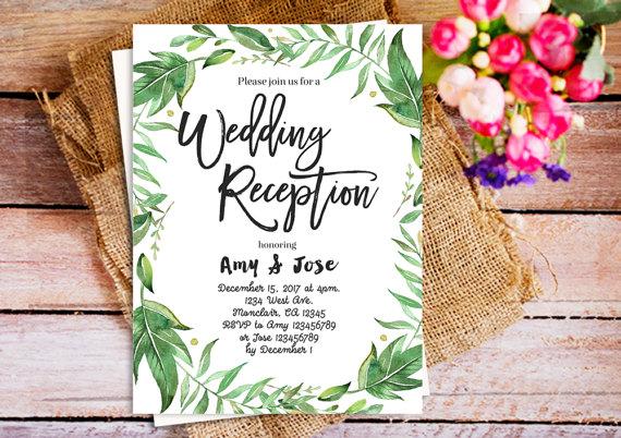 wedding reception invitation diy printable wedding reception