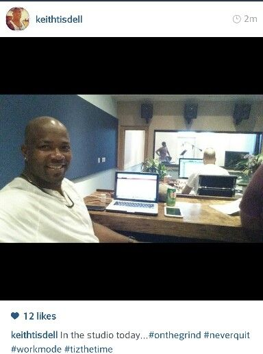 In the studios