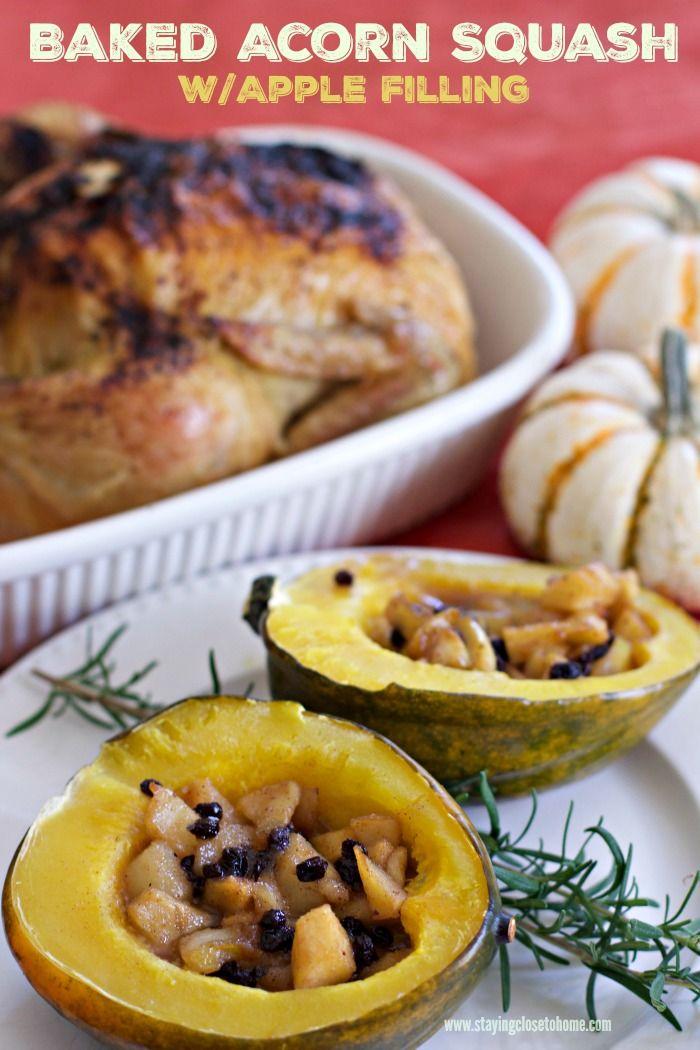 Apple Stuffed Acorn Squash Recipe Recipes Filling Recipes