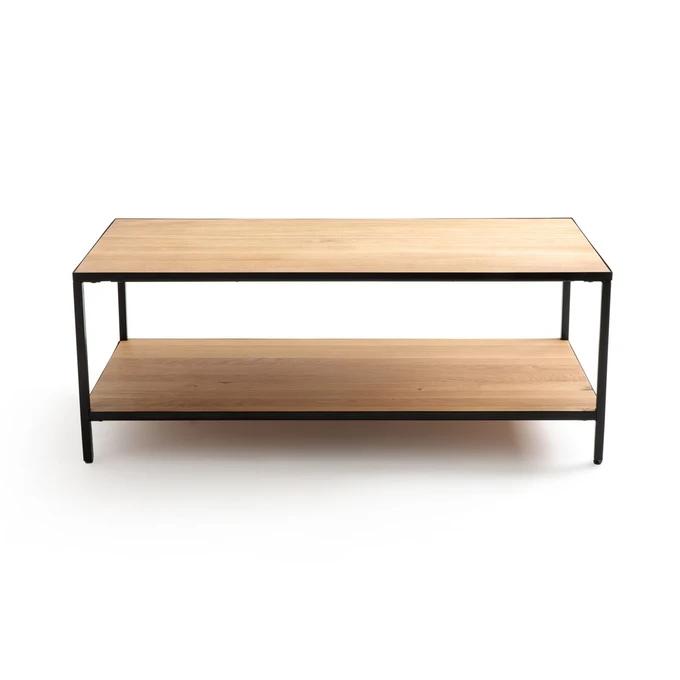 Table Basse Rectangulaire Chene Et Metal Nova En 2020 Table Basse Rectangulaire Table Basse Table