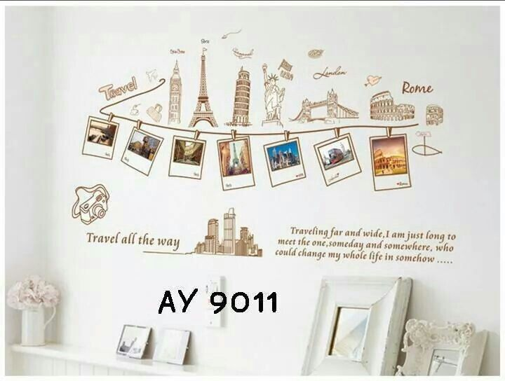 open order segala macam wallsticker murmer buat kamar on wall stickers stiker kamar tidur remaja id=38977