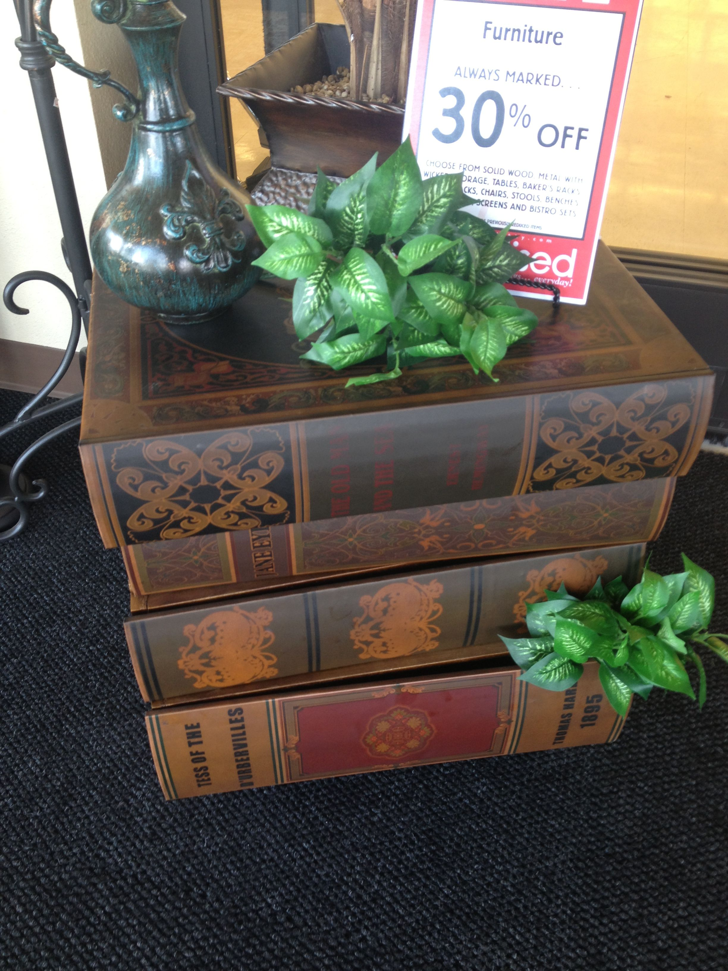 Book Table Decorative Boxes Decor Book Table