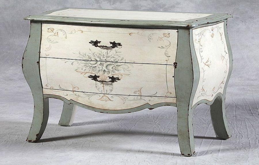 Shabby Chic Cream And Grey Bombe Chest Furniture House Pinterest Chest Furniture