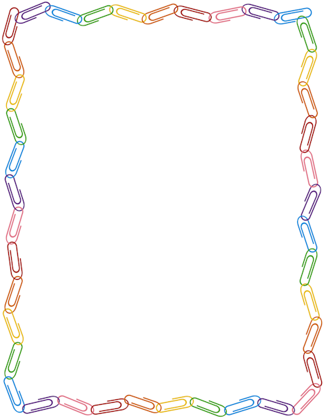 Free Paper Clip Border Templates Including Printable Border Paper And Clip  Art Versions. File Formats Include GIF, JPG, PDF, And PNG.  Free Paper Templates With Borders