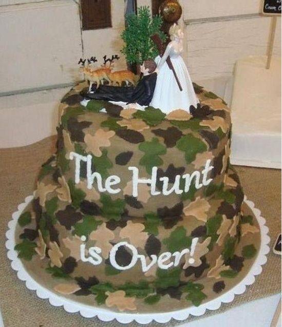 Wedding Cake Designs Satin Camouflage