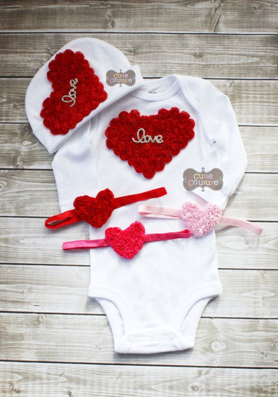 2175a08eb Boutique Style-Valentine's Day-1st Valentines Outfit-Heart Outfit-Baby  Valentine's Day- by CutieCouture4u on Etsy $17.00