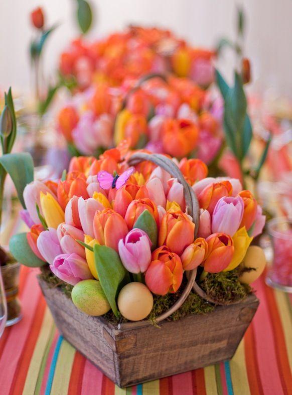 gorgeous tulips! easter arrangement