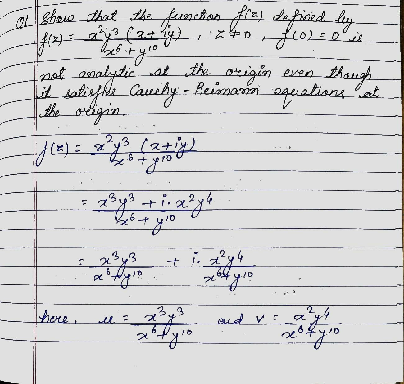 SOLUTION Of First Question Of Assignment (Analytic