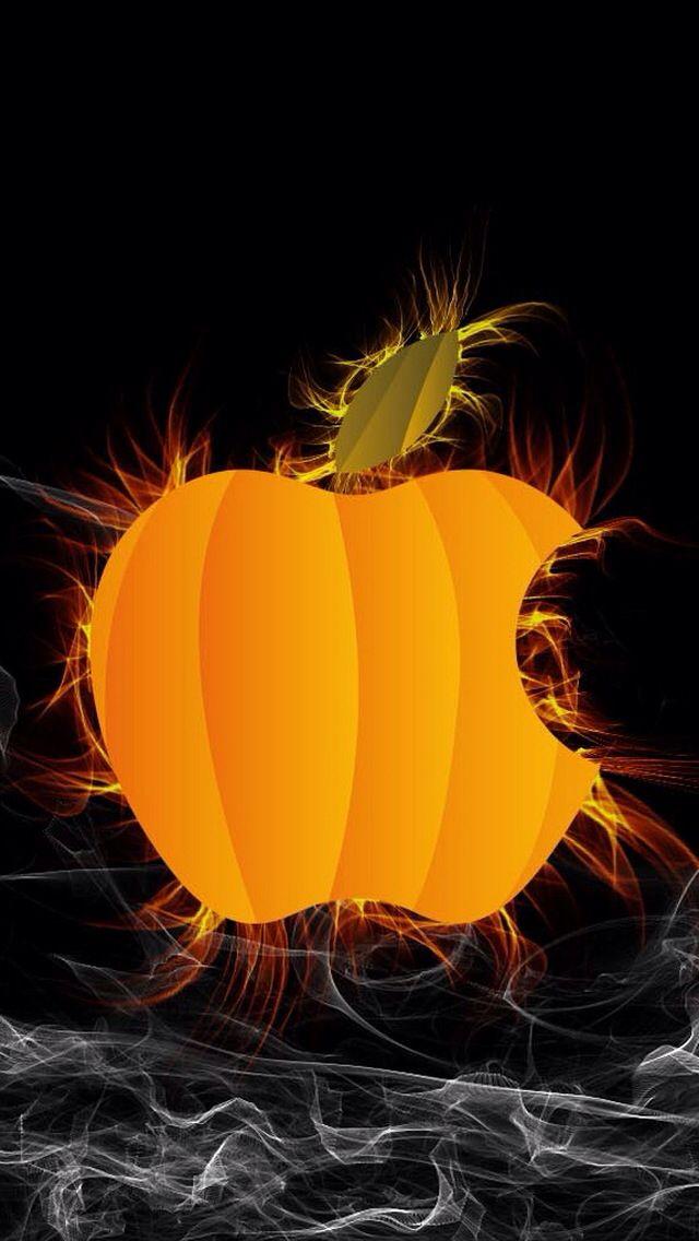 Halloween Apple Screen Saver Halloween Wallpaper Iphone Apple Wallpaper Apple Logo Wallpaper Iphone
