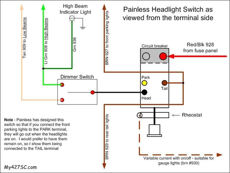 55 Chevy Headlight Switch Wiring Diagram Light Switch Wiring Diagram Electrical Diagram