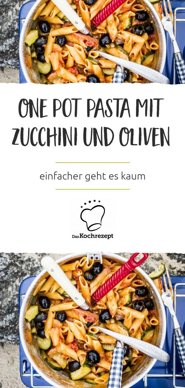 Photo of One pot pasta with zucchini and olives