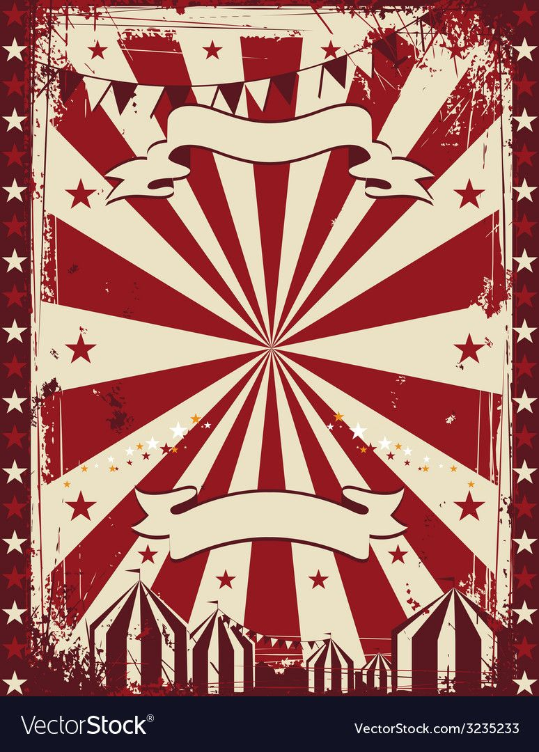 Vintage Circus Poster Background Advertising Vector Image On Vectorstock Vintage Circus Posters Circus Poster Vintage Circus
