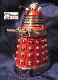 "5 1/2"" Red Glass Dalek from Doctor Who"