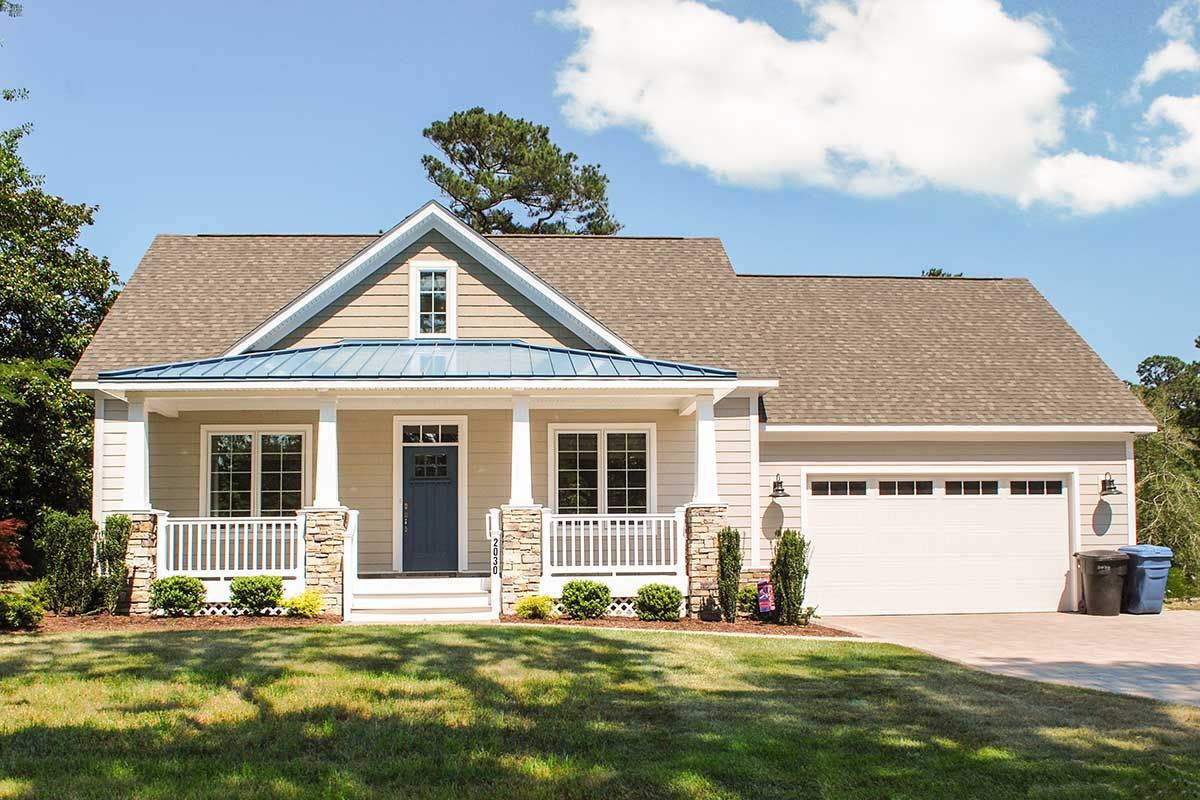 Lovable Twostory Home Plan with Rear Grilling Porch