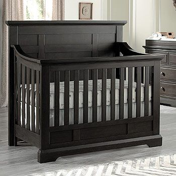 Avalon Baby Dallas 4 in 1 Convertible Crib in Slate converts to a