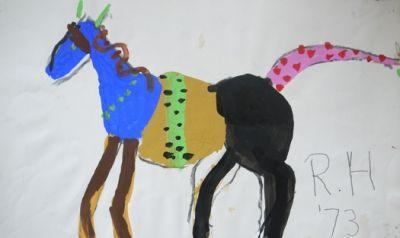 Roger Hilton, 'Horse', gouache on paper 27 x 43cm, SOLD