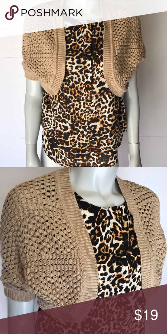 89th & madison} light brown shrug sweater | Shrug sweater, Light ...