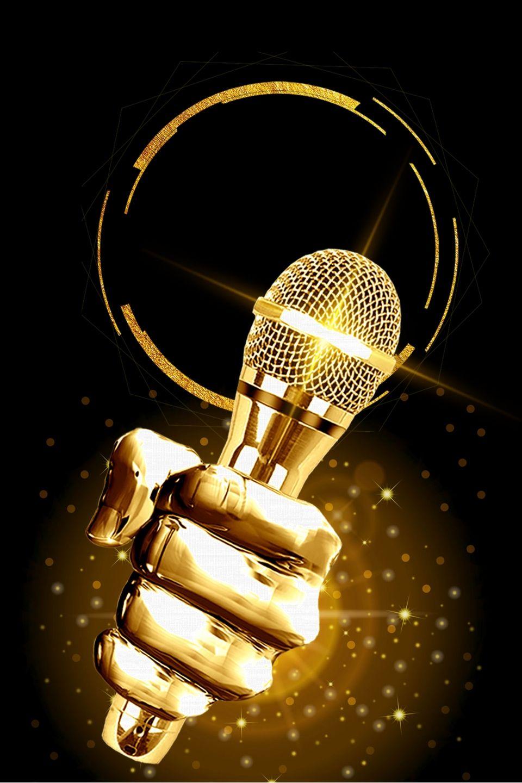 Microphone Speech Speech Contest Design Background Music Wallpaper Digital Graphics Art Contest Design