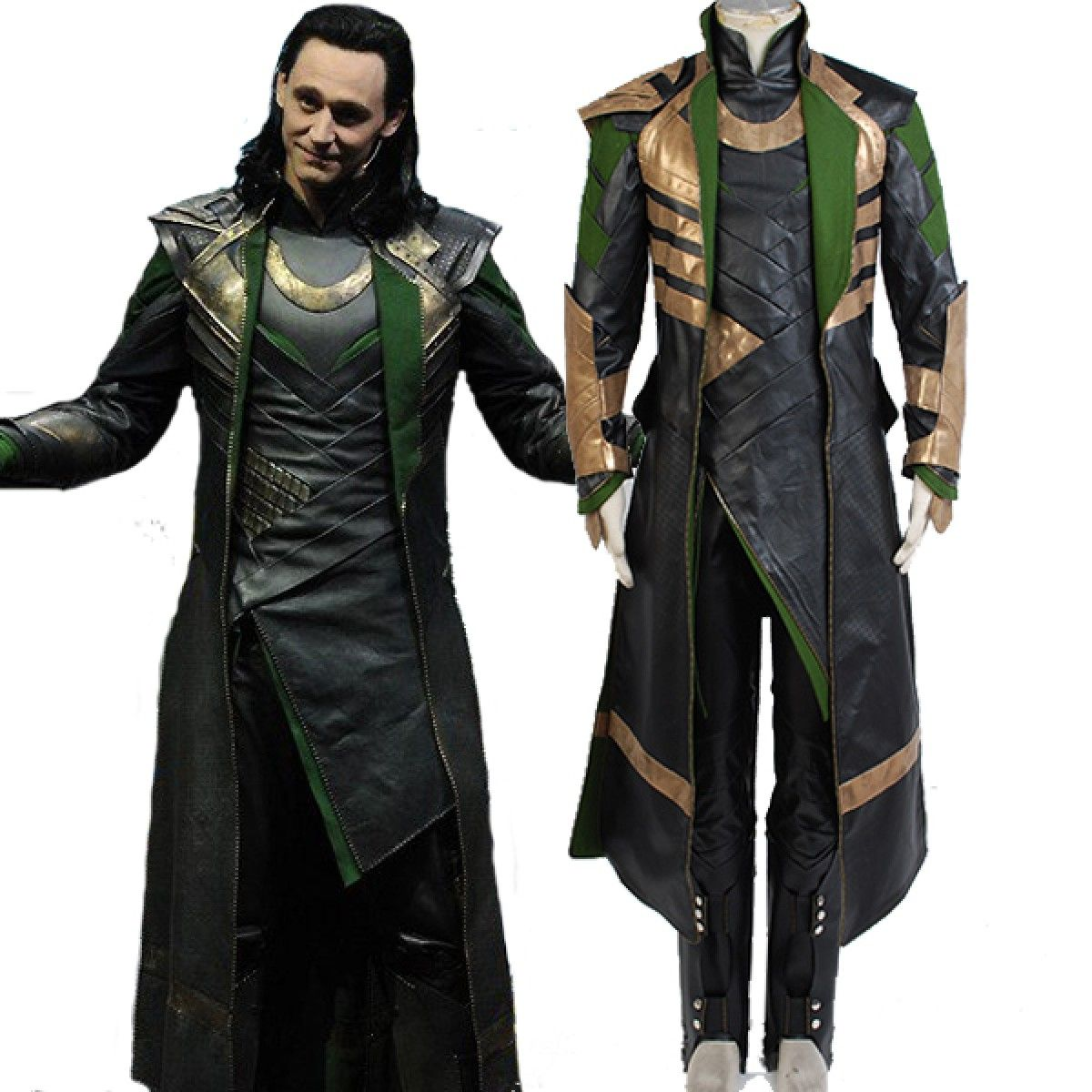 Thor The Dark World Loki Cosplay Costume  Whole Set
