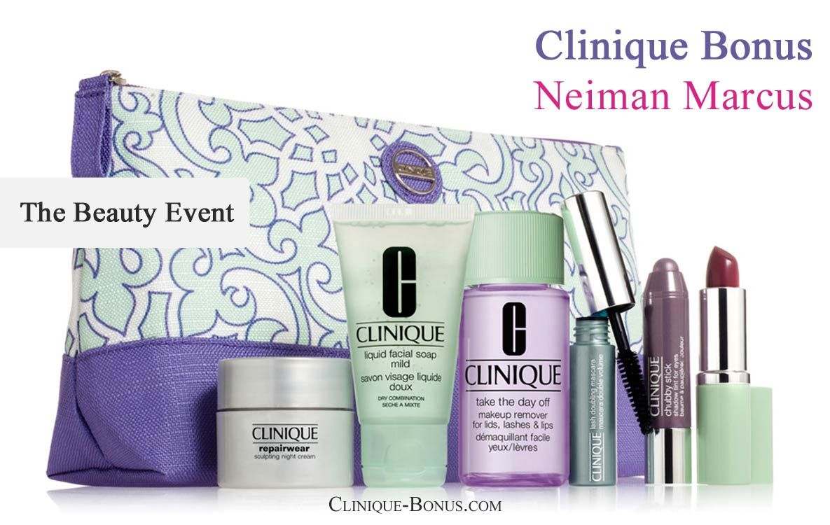 Clinique complimentary gift - yours with $65 purchase at Neiman ...