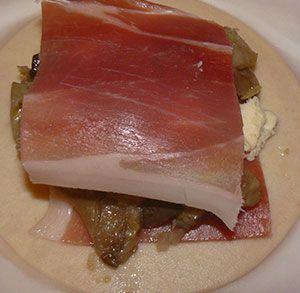 receta facil de empanadilla con setas jamon y queso azul