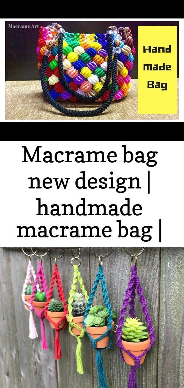 Macrame Bag New Design | Handmade Macrame Bag | Macrame Art DIY Macrame Mini Plant Hanger Pattern P