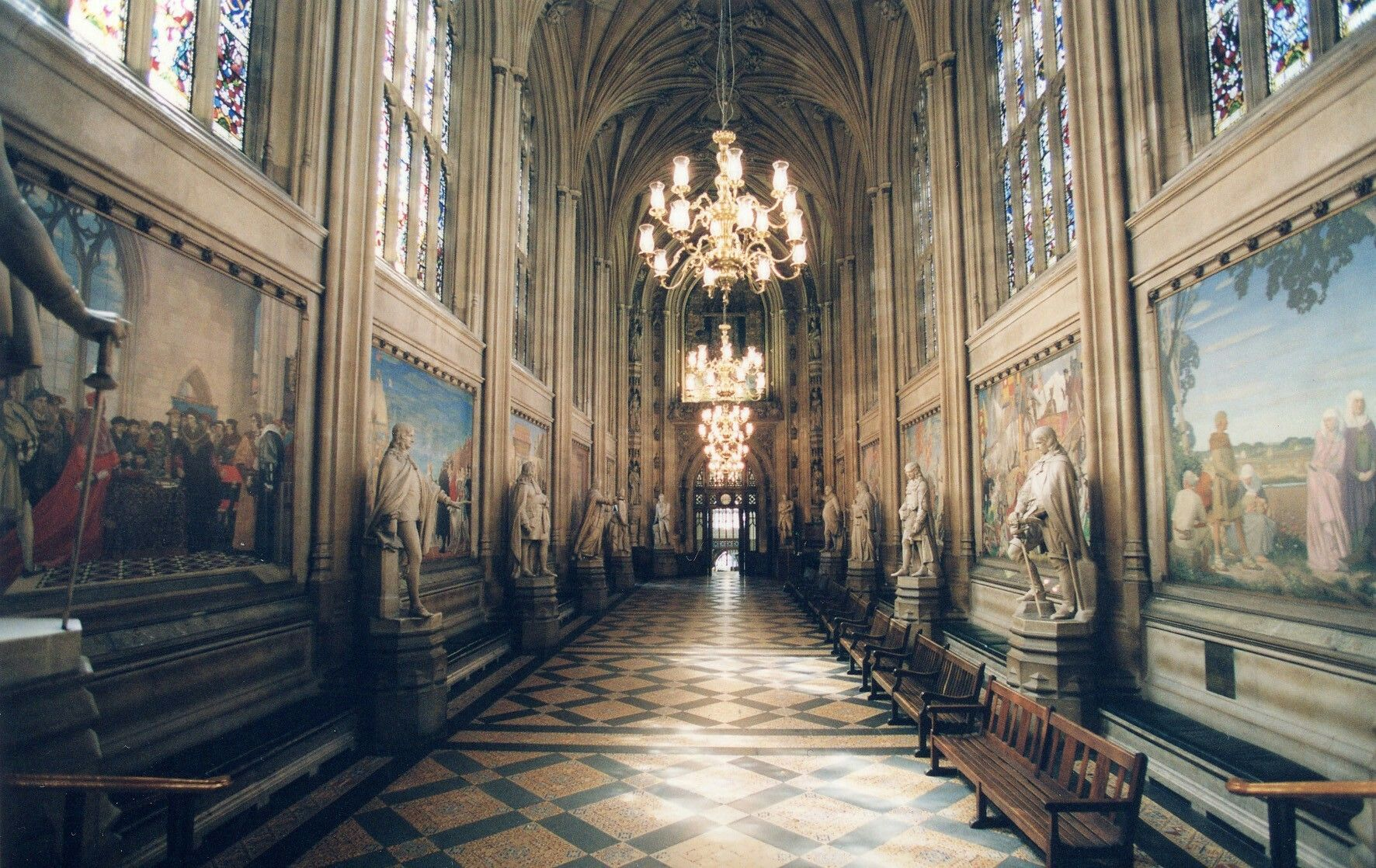 Parliament Hall Westminster Palace Kings