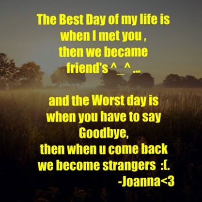 True .. What happened to our Friendship? :(