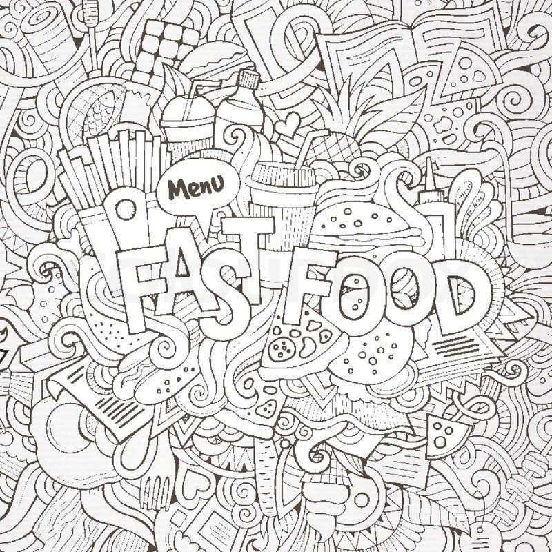 good quality food coloring pages - photo#2