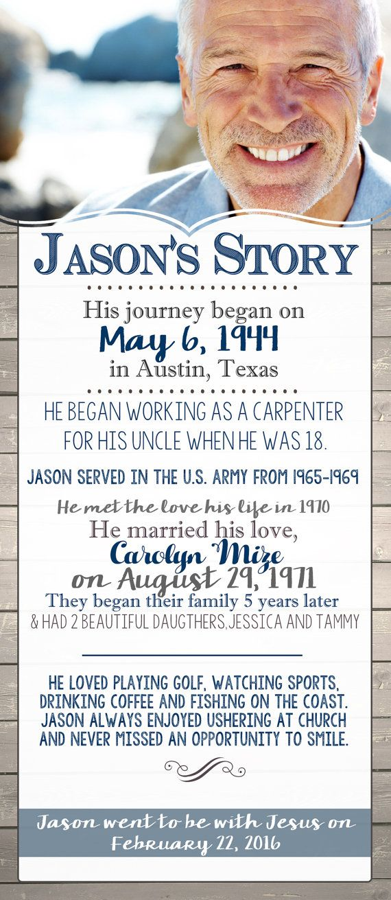The Story In Memory Of Celebration of Life by DeerlyDesigned - free obituary template