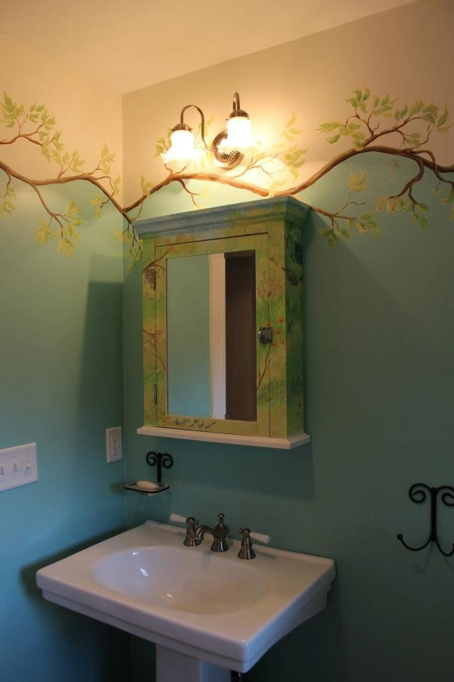 Modern Day Makeover--Bathroom From Blah blah blah to whimsical and cheerful!  www.the50shousewife.com