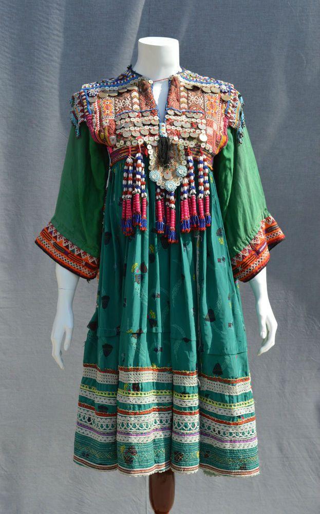 Vintage Kuchi Afghan Ethnic Tribal Nomaden Belly dancing Jewellery Costume JD-25 in Clothes, Shoes & Accessories, Vintage Clothing & Accessories, Women's Vintage Clothing   eBay