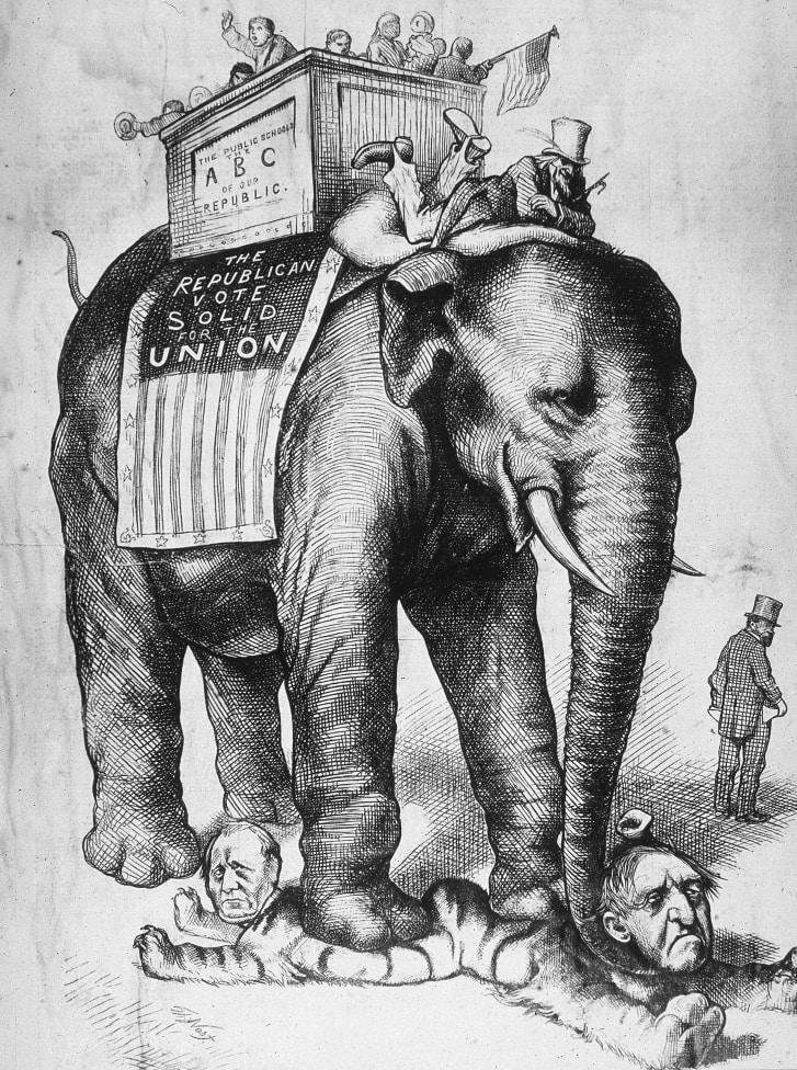 Why Democrats Are Donkeys And Republicans Are Elephants Elephant Cartoon Elephant Wallpaper
