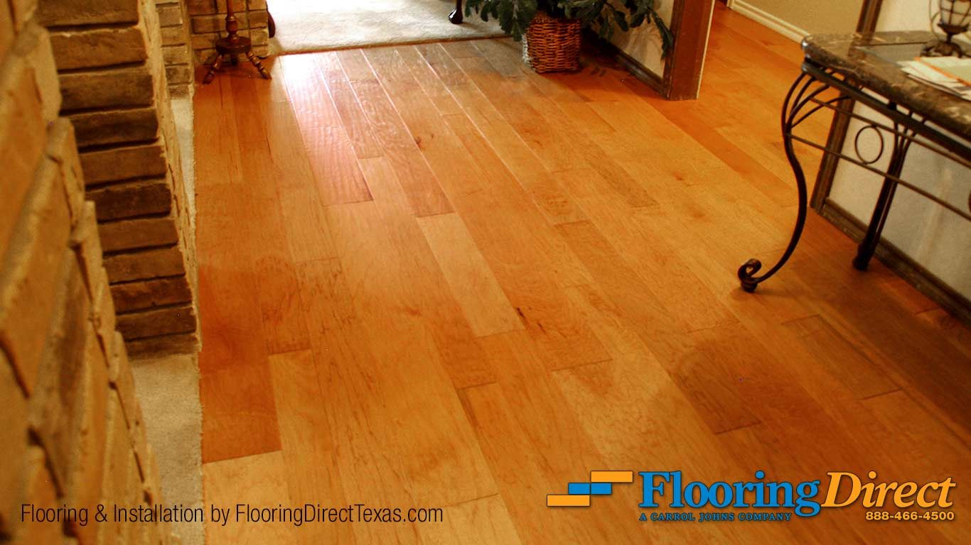 Shown In The Color Of Natural Hickory This Lovely Hardwood By