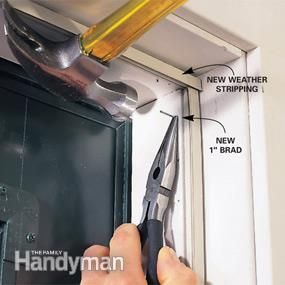 Learn How To Remove Old Damaged Weather Stripping Around A Steel Entry Door And Replace It With New Magnetic Sweep