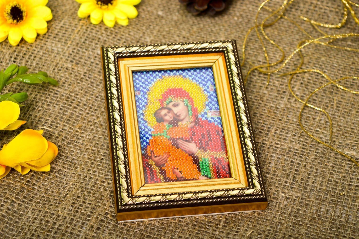 Handmade Home Decor Religious Icons Beadwork Icons For Decorative ...
