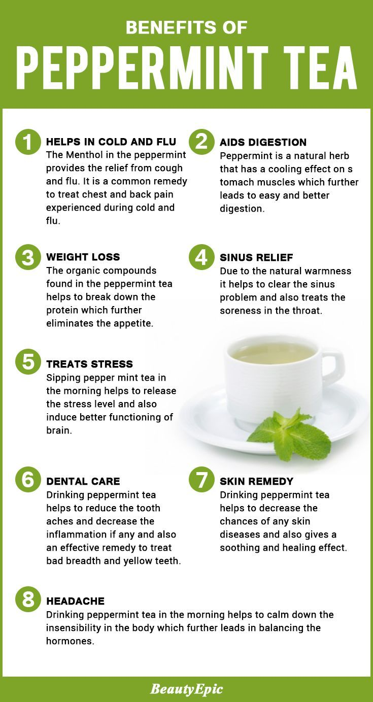 12 Amazing Health Benefits of Drinking Peppermint