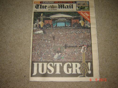 The Mail newspaper Live8 edition 3rd July 2005 Venus Williams Wimbledon. MINT | eBay
