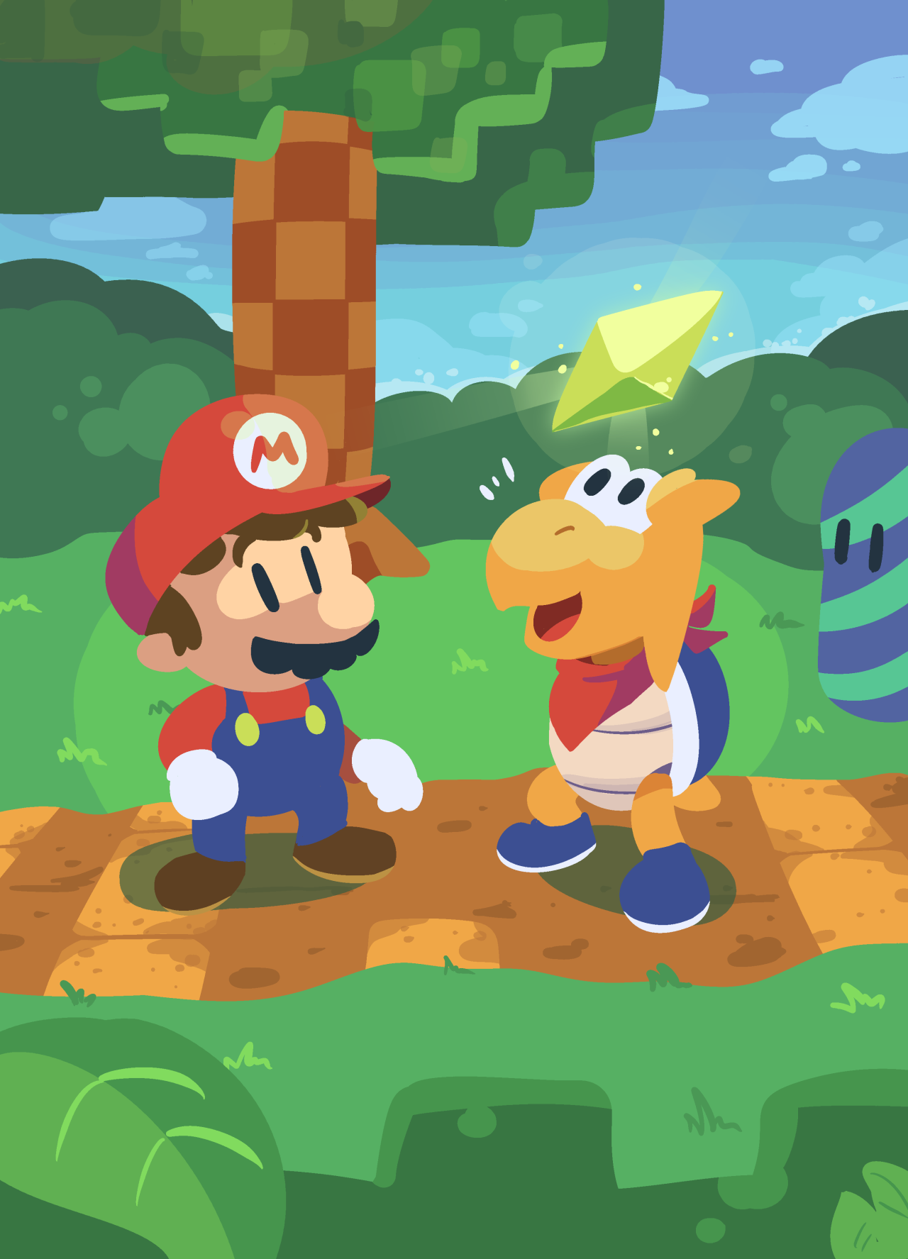 An Illustration Outlet My Complete Paper Mario Set With All Of The