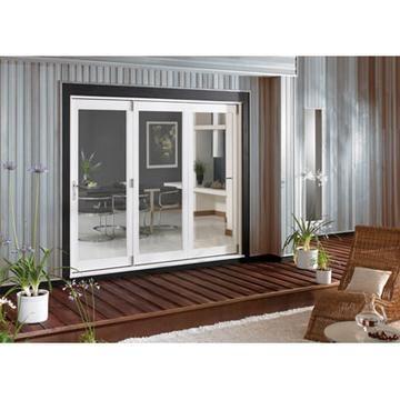 image of la porte vista white folding patio doors fully decorated