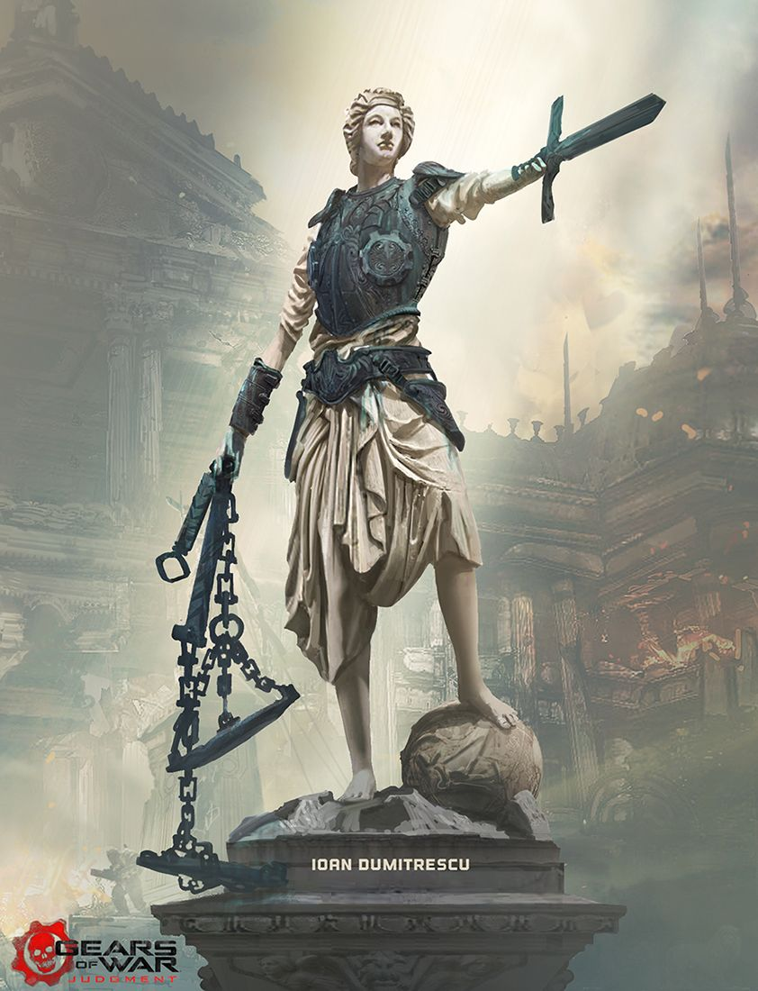 Ladyjustice Final Render Copy2 Copy By Jonone Deviantart Com On Deviantart Lady Justice Gears Of War Fairytale Art